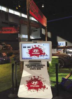 Hyundai used TapSnap at an auto-show to create an undead-themed photo entertainment experience that drew visitors to their display.
