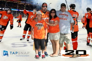 tapsnap franchisee at nhl ducks event
